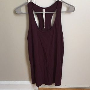 Lululemon wine colored tank top size 2